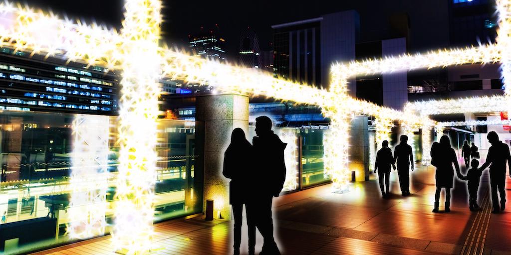 Shinjuku Takashimaya Illumination 2015-2016